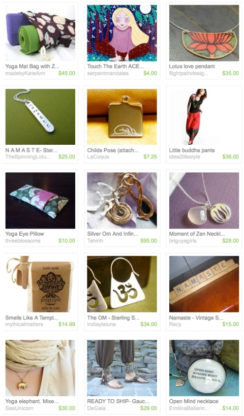 When Yogis Accessorize, they go to Etsy :)
