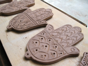 Hamsa Incense Stick Holders - the stick slots into the base of the hand